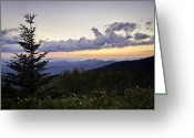 Cowee Greeting Cards - Evening Falls on the Blue Ridge Greeting Card by Rob Travis