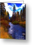 Hatch Greeting Cards - Evening Hatch on the Metolius River Photograph Greeting Card by Diane E Berry