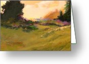 Tans Greeting Cards - Evening Meadow Greeting Card by Dale  Witherow