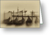 Vacationers Greeting Cards - Evening Mist Greeting Card by Eggers   Photography