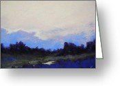 Lanscape Pastels Greeting Cards - Evening Mood Greeting Card by Kenneth DelGatto