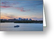 Cities Greeting Cards - Evening On The Potomac River Greeting Card by Steven Ainsworth