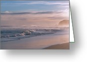 Otago Greeting Cards - Evening Sea Greeting Card by Jill Ferry Photography