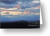 Randi Shenkman Greeting Cards - Evening Sky over the Quabbin Greeting Card by Randi Shenkman