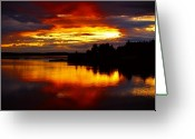 Johannessen Greeting Cards - Evening Sky Greeting Card by Torfinn Johannessen