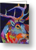 Standing Painting Greeting Cards - Evening Sounds Greeting Card by Tracy Miller