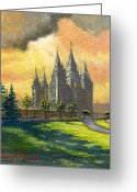 Jesus Painting Greeting Cards - Evening Splendor Greeting Card by Jeff Brimley