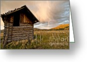 Ruin Greeting Cards - Evening Storm Greeting Card by Jeff Kolker