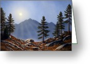 Crest Greeting Cards - Evening Sun Greeting Card by Frank Wilson
