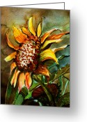 Card Art Greeting Cards - Evening Sun Greeting Card by Mindy Newman
