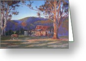 Old Barn Pastels Greeting Cards - Evening Tapestry Dyers Crossing Greeting Card by Louise Green