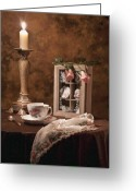 Still Life Greeting Cards - Evening Tea Still Life Greeting Card by Tom Mc Nemar