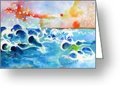 Ginette Fine Art Llc Ginette Callaway Greeting Cards - Evening Tide Greeting Card by Ginette Fine Art LLC Ginette Callaway