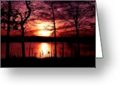 Oklahoma Landscape Greeting Cards - Evening Wine Greeting Card by Karen M Scovill