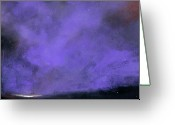 Purple Clouds Greeting Cards - Evenings End Greeting Card by Toni Grote
