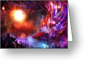 Fantasy Art Greeting Cards - Event on the Horizon Greeting Card by Alex Ruiz