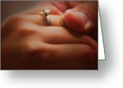 Engagement Gift Greeting Cards - Everlasting Bond Greeting Card by Venura Herath