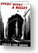 Warishellstore Greeting Cards - Every Rivet A Bullet Greeting Card by War Is Hell Store