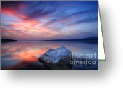 Twilight Greeting Cards - Every Stone Has a Place Greeting Card by Evgeni Dinev