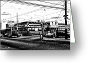 South Philly Greeting Cards - Everybody Goes to Melrose - The Melrose Diner - Philadelphia Greeting Card by Bill Cannon
