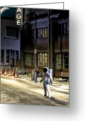 Streets Digital Art Greeting Cards - Everyone Is Gone Greeting Card by Bob Orsillo