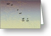 Mallards Greeting Cards - Everything is Just Ducky Greeting Card by Bill Cannon