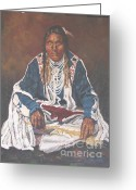 Native American Rug Greeting Cards - Everything Old is New Again Greeting Card by Peggy Selander