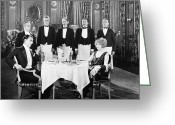 Tuxedo Greeting Cards - Eves Secret, 1925 Greeting Card by Granger