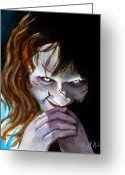 Horror Greeting Cards - Evil doesnt get any better Greeting Card by Al  Molina