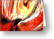 Intent Greeting Cards - Evil Intent Abstract Greeting Card by Alexander Butler