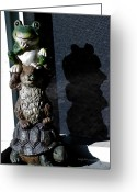 Brown Frog Greeting Cards - Evil Lurking in the Shadows Greeting Card by DigiArt Diaries by Vicky Browning