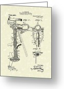 Antique Artwork Greeting Cards - Evinrude Boat Motor 1911 Patent Art Greeting Card by Prior Art Design