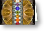 Sacred Geometry Greeting Cards - Evolving Light Greeting Card by Bell And Todd