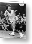 Match Greeting Cards - Evonne Goolagong (1951- ) Greeting Card by Granger