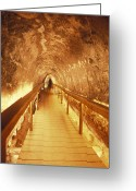 Excavation Greeting Cards - Excavations Of The Ancient Water Tunnel Greeting Card by Richard Nowitz