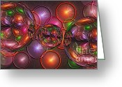Jewels Digital Art Greeting Cards - Excelsior - A Greeting Card by Michael C Geraghty