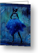 Evening Dress Mixed Media Greeting Cards - Exceptional Lady Greeting Card by Heather Saulsbury
