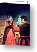 Royalty Greeting Cards - Execution of Mary Queen of Scots Greeting Card by English School