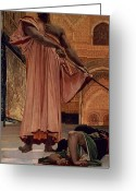 Orientalists Greeting Cards - Execution Without Trial under the Moorish Kings in Granada Greeting Card by Henri Alexandre Georges Regnault