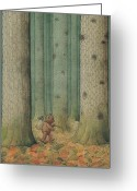 Melancholic Greeting Cards - Exile Greeting Card by Kestutis Kasparavicius