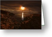 Red Dwarfs Greeting Cards - Exoplanet Gliese 581 D Greeting Card by Ron Miller