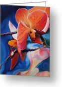 Exotic Orchid Greeting Cards - Exotic Botanics Greeting Card by Karen Hurst