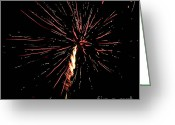 Pyrotechnics Greeting Cards - Explode Greeting Card by Agusti Pardo Rossello