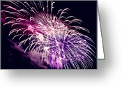 Flares Greeting Cards - Exploding Stars Greeting Card by DigiArt Diaries by Vicky Browning
