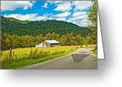 Rural Road Greeting Cards - Exploring West Virginia Greeting Card by Steve Harrington