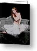 Boudoir Greeting Cards - Exposed Greeting Card by David  Naman