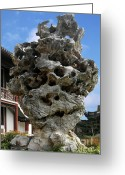 Ornamental Greeting Cards - Exquisite Jade Rock - Yu Garden - Shanghai Greeting Card by Christine Till