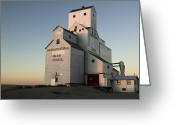 Exterior Buildings Greeting Cards - Exterior Of Grain Elevators Greeting Card by Pete Ryan