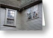 Paul Revere Greeting Cards - Exterior Views Of Paul Reveres House Greeting Card by Tim Laman