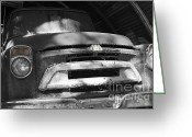 Antique Truck Greeting Cards - Extinction Greeting Card by Cheryl Young